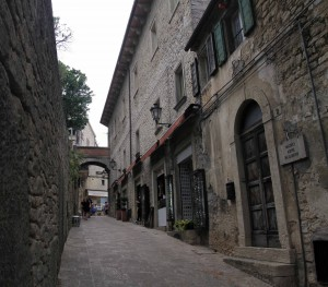 Another street in San Marino.
