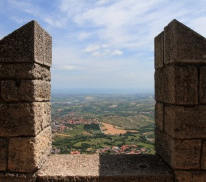 Looking toward the Adriatic Sea from the First Tower.