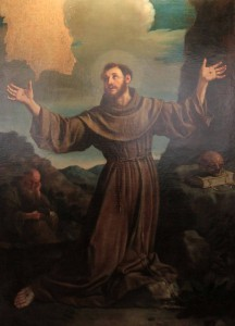 'The Stigmata of St. Francis' by Matteo Loves (1646 AD).