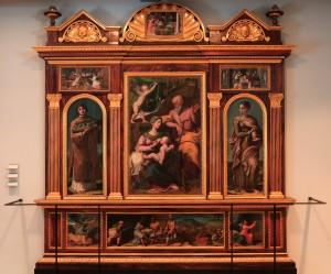 A polyptych by Francesco Menzocchi (1535 AD).