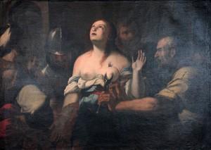 'Martyrdom of Saint Agatha' by an unknown artist (17th-century AD).