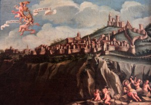 Painting depicting San Marino from the 18th-century AD).