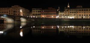 The Arno River at night.