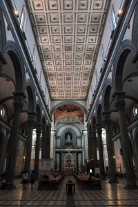 The interior of the Basilica di San Lorenzo.