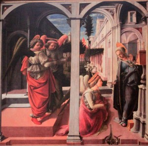 'The Annunciation' by Filippo Lippi (1450 AD).
