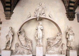 Replica of the Fountain for the Sala Grande - the original was sculpted by Bartolomeo Ammannati in the 16th-century AD).