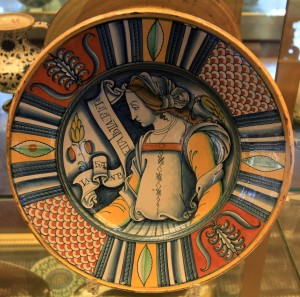 An Italian plate from the 16-century AD.