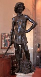 'David' by Andrea del Verrocchio (ca. 1466-1469 AD).
