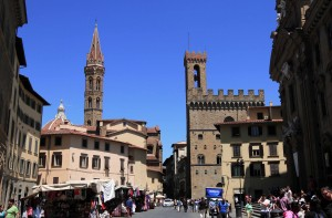 Street with the Museo del Bargello on the right.