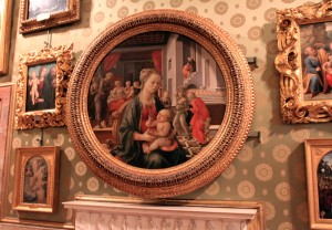 'Madonna and the Infant Jesus' by Filippo Lippi - in the Palatine Gallery in the Pitti Palace.