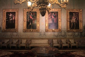 Portraits in the Salotto Celeste (in Medici times, this was a music room).