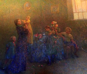 'First Birthday' by Plinio Nomellini (1914 AD).