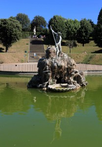 Neptune Fountain inside the Boboli Gardens.