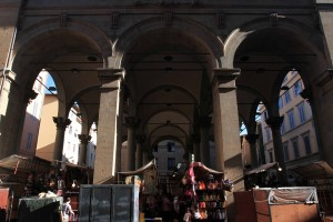 A open air market in Florence.