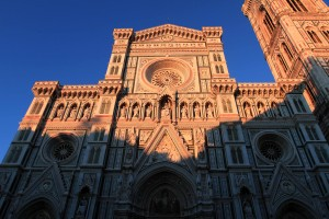 The Florence Cathedral at sunset.