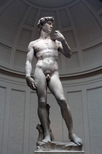 'David' by Michelangelo (1501-1504 AD) - on display inside the Galleria dell' Academia.