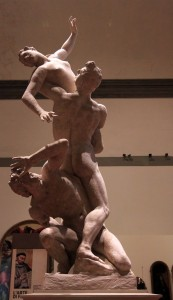 Plaster model for the 'Rape of the Sabines' by Giambologna (1582 AD).