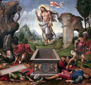 'Resurrection of Christ' by Raffaellino del Garbo (ca. 1500-1505 AD).