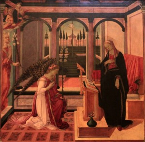 'Annunciation' by Filippo Lippi (ca. 1475-1480 AD).