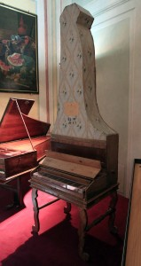 An upright piano built by Domenico del Mela (1739 AD).