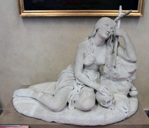 Plaster model for 'Penitent Magdalene' by Luigi Pampaloni (after 1847 AD).