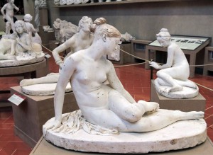 Plaster model for 'Nymph of the Scorpion' by Lorenzo Bartolini (before 1837 AD).