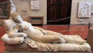 Plaster model for 'Reclining Venus, after Titian' by Lorenzo Bartolini (1821/1822 AD).