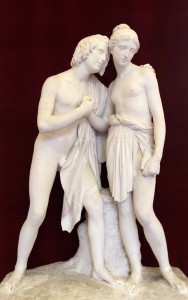 Plaster model for 'Daphne and Chloe' by Ulisse Cambi (1834 AD).