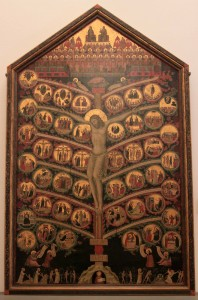 'Tree of Life' by Pacino di Bonaguida (ca. 1310-1315 AD).