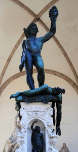 'Perseus With the Head of Medusa' by Benvenuto Cellini (1545 AD) - on display in the Piazza della Signoria.