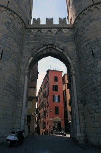 The Porta Soprana up close.