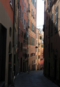 Street in Genoa.
