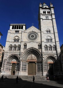 "The Genoa Cathedral (also known as the ""Cathedral of Saint Lawrence"")."