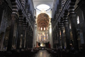 The interior of the Genoa Cathedral.
