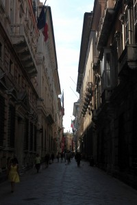 Another street in Genoa.
