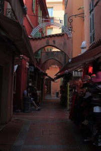 Narrow street in Monaco-Ville.