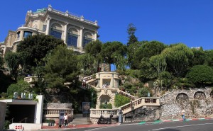 Stairs descending from the Monte Carlo Casino.
