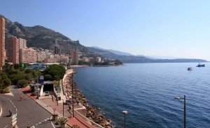 Looking north along the coast of Monaco.