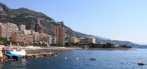Larvotto Beach and the northern limit of Monaco.
