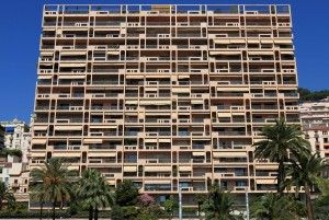 Modern building in Monaco.