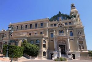The entrance to the Opera House (part of the Monte Carlo Casino).