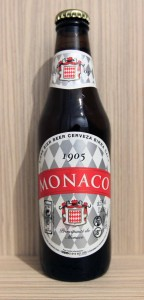 A bottle of Monaco beer.