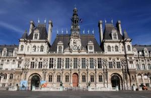 The Hôtel de Ville in Paris.