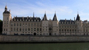 The Conciergerie (a former prison where Marie Antoinette once stayed) across the Seine River.