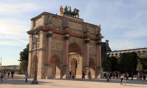 The Arc de Triomphe du Carrousel (built in 1808 AD to commemorate Napoleon's military victories).