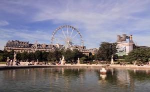 Ferris wheel in Tuileries Garden.