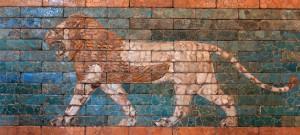 'Passing Lion' - Babylonian glazed tiles (ca. 604-562 BC).
