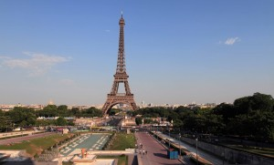 The Eiffel Tower seen from the Palais de Chaillot.