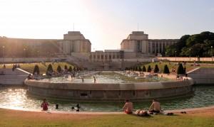Trocadéro Gardens and the Palais de Chaillot in the background.