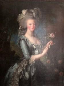 Painting of Marie-Antoinette de Lorraine.